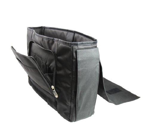 Luxburg® Design bolso bandolera de mensajero, de escuela bolso para portátil ordenadores Laptop Notebook 15,6 pulgadas, motivo: Hombres multicolores LX chocolate