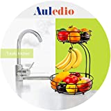 Auledio 2-Tier Countertop Fruit Vegetables Basket