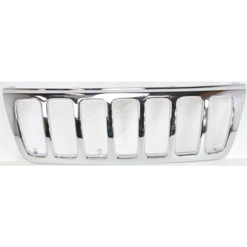 MAPM - Jeep GRAND CHEROKEE 1999-2003 GRILLE ABS Plastic Chromed Plated Laredo Model - CH1200221 FOR 1999-2003 Jeep Grand ()