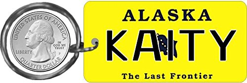 - Personalized Alaska 2013 State Replica License Plate Keychain