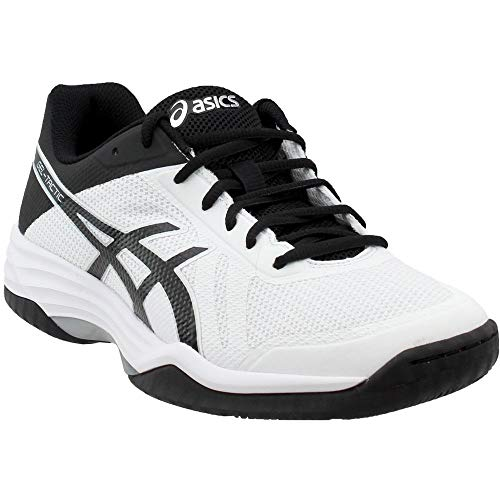 - ASICS Mens Gel-Tactic 2 Volleyball Shoe, White/Black/Silver, 8 Medium US