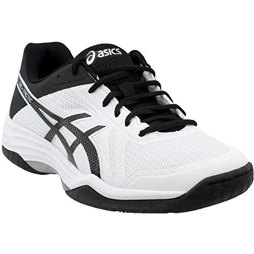 - ASICS Mens Gel-Tactic 2 Volleyball Shoe, White/Black/Silver, 8 Medium US