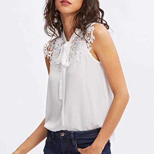 Zhrui de femmes Sleeve Flower Frilly mousseline soie White Blouse Shoulder Tank shirt Summer Floral T Sexy Ruffle Débardeurs pour Lace les en Top rgnrt