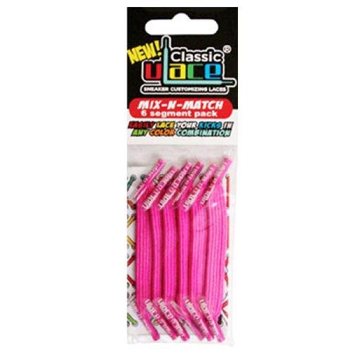 U-Lace Mix N Match–Maletín cordones, color HOT PINK - Rose foncé