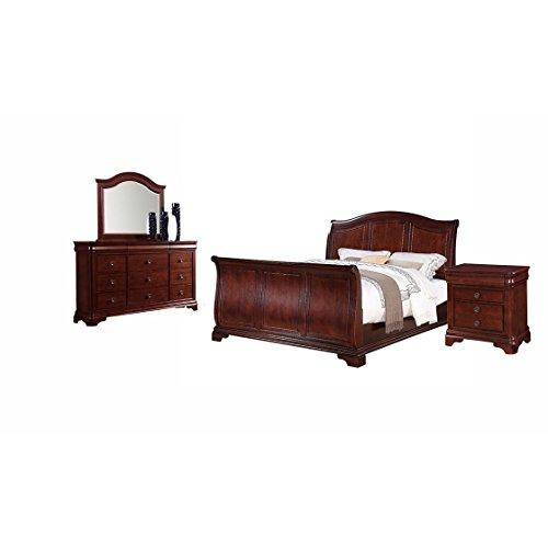 Picket House Furnishings Elements Conley 4 Piece Queen Bedroom Set in Cherry