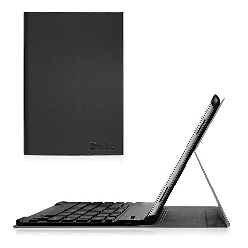 Fintie Blade X1 Samsung Galaxy Tab A 10.1 Bluetooth Tastatur Hülle Keyboard Case - Ultradünn leicht SmartShell Ständer Schutzhülle mit magnetisch abnehmbar drahtloser Deutsche Bluetooth Tastatur für Samsung Galaxy Tab A 10,1 Zoll T580N / T585N Tablet (2016 Version), Schwarz