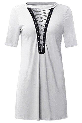Bluetime - Vestido - Túnica - para mujer blanco