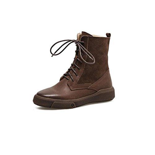 da da stivali trekking donna 40 43 BROWN invernali Scarpe casual Freddo antiscivolo Caldi brown apqE0q