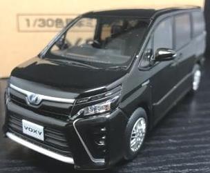 トヨタ 1/30 新型 ヴォクシー VOXY ハイブリッドZS HYBRID ZS オフィシャルミニカー カラーサンプル ブラック