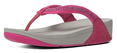 Fitflop ™ para mujer Crystal Swirl ™ ante sandalia Chicle