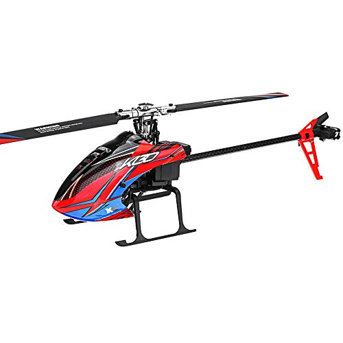 Aoile XK K130 2.4G 6CH Brushless 3D6G System Flybarless RC Helicopter BNF Compatible with FUTABA S-FHSS Without Remote Control 2 Battery