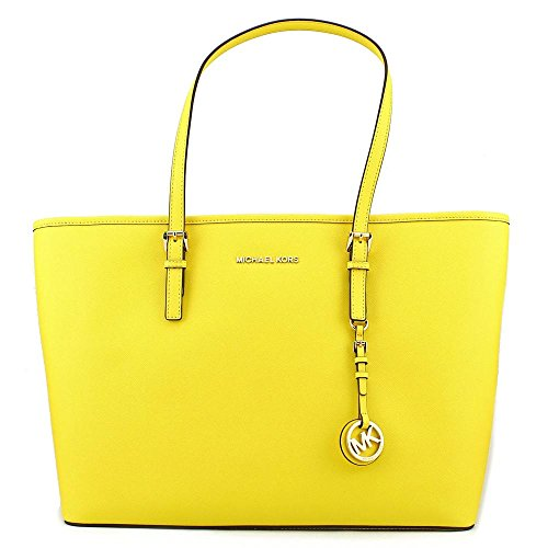 Michael Kors Jet Set Travel Saffiano Leather Tote - Sunflower