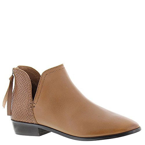 Kenneth Cole REACTION Women's Loop Notch Out Back Zip Ankle Bootie, Tan, 9 M (Loop Leather Ankle Boots)