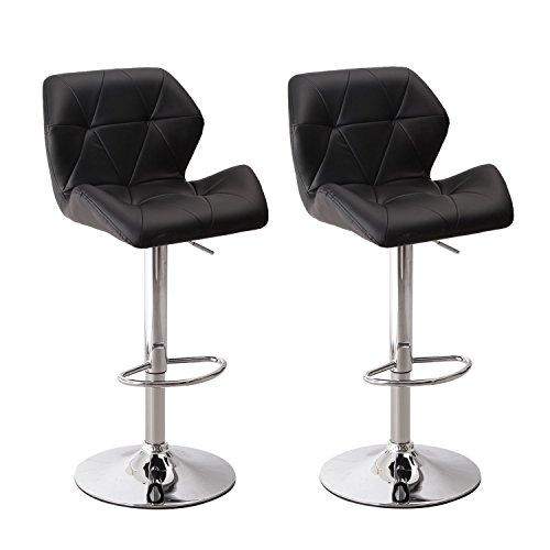 Adeco Hydraulic Adjustable Height Barstool Stool Chairs,