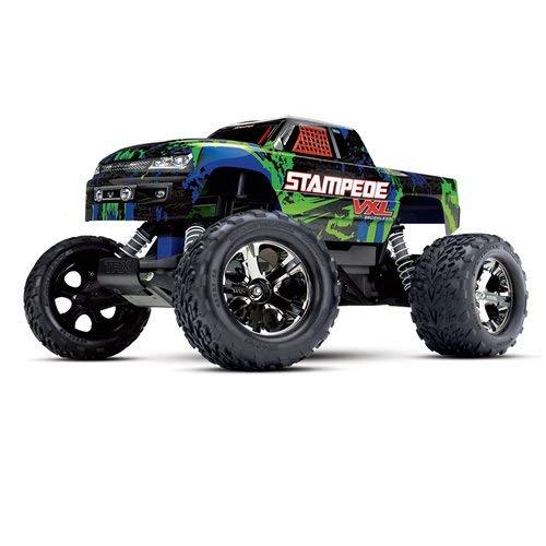 Traxxas 36076-4 Stampede VXL 2WD Brushless Monster Truck, Green