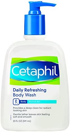 Body Washes & Gels: Cetaphil Daily Refreshing Body Wash