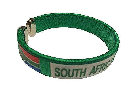 Flag C Bracelets Wristbands - Asia & Africa (1-Pack, Country: South - South Just Men Africa For