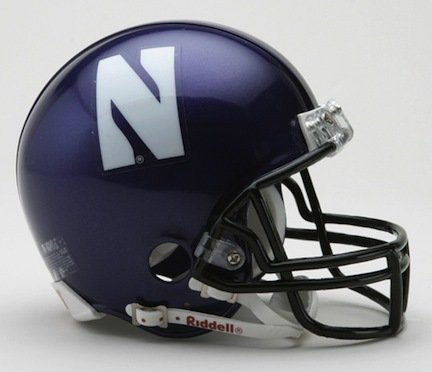 Riddell Northwestern Wildcats Replica Mini Helmet w/Z2B - Authentic Helmet Mini Northwestern Wildcats
