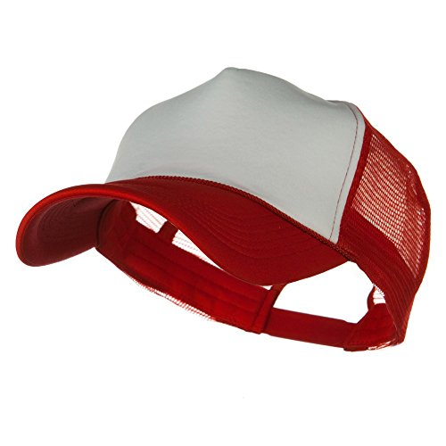 e4Hats.com Big Foam Mesh Truck Cap - White Red OSFM