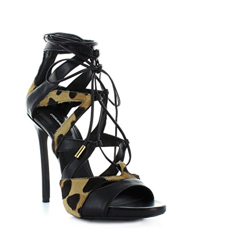 Women's Shoes Dsquared2 Tie Me up Black Animalier Sandal Spring Summer 2018 buy cheap Inexpensive fashionable cheap price classic online sale low cost uQckw0