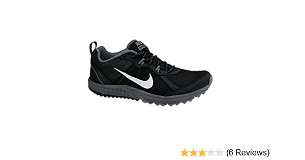 timeless design 50744 958fc Amazon.com   New Nike Men s Wild Trail Running Shoe Black Grey 8 4E   Trail  Running