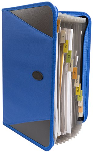 13 Pocket Zipper File Organizer, Expandable Portfolio with Zipper Great for Home, Office, School, Medical Records, and More, 13 Pocket Expanding File