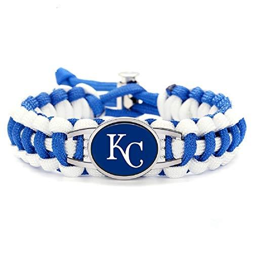 (Swamp Fox Premium Style Kansas City Royals Baseball Team Adjustable Paracord Survival Bracelet )