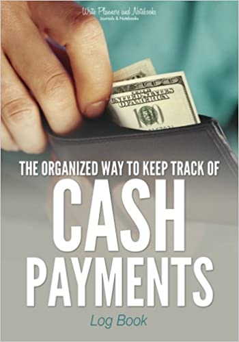 the organized way to keep track of cash payments log book write