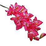 jiumengya 3pcs Artificial Orchids Cymbidium Large Size 9 Heads Cattleya Hybrida Orchid Flowers for Wedding Centerpieces Decorative Flower (hot Pink)