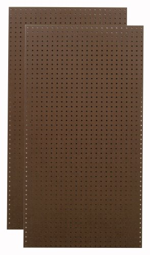 Tempered Wood Pegboard TPB-2BRF 24-Inch W x 48-Inch H x 1/4-Inch D Heavy Duty Commercial Grade Round Hole Pegboards, Brown
