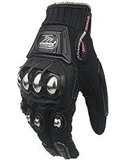 Madbike guanti da motociclismo, protezione in lega di acciaio per moto