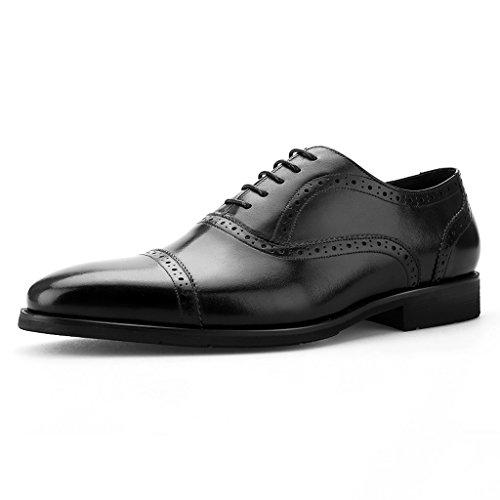 para Formal 5 Negro Zapatos Color Trabajo Formal Británico para Zapatos para Pequeña Cuadrada Hombre de Azul Trabajo Clásicos de Cuero Lugar el EU44 UK8 Estilo Tamaño Hombres Cabeza de Piel XwXnUqtCfx