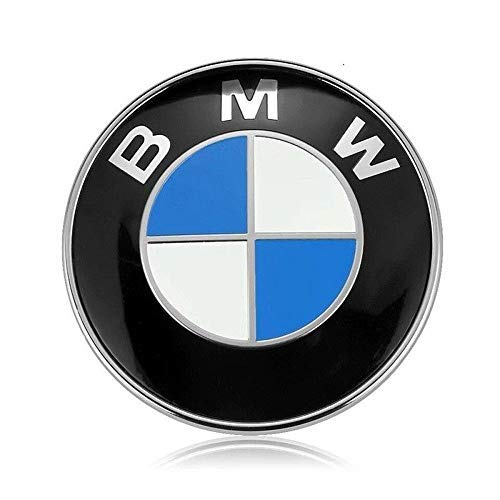 Roundel Emblems Rear - BMW Emblem Hood, BMW 82mm Hood/Trunk Logo Replacement for ALL Models BMW E30 E36 E46 E34 E39 E60 E65 E38 X3 X5 X6 3 4 5 6 7 8