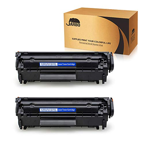 JARBO Compatible Toner Cartridges Replacement for HP 12A Q2612A High Yield, 2 Black, Use with Laserjet 1020 1012 1022 1010 1018 1022n 3015 3030 3050 3052 3055 M1319F - Hp Toner Q2612a