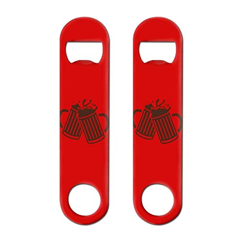 (Beer Silhouette cheers Two-piece Stainless Steel Bottle Opener Cool Versatile For Restaurant)