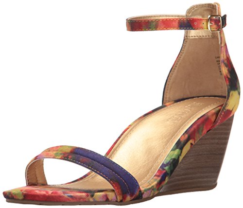 Kenneth Cole REACTION Women's Cake Icing Wedge Sandal, Floral, 7.5 M US