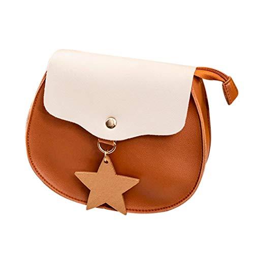 (Crossbody Bags for Women,iOPQO Hit Color Shoulder Bag Messenger Tote Phone Bag)
