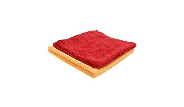 Amazon.com: eDealMax 2pcs 40 x 40 cm 300GSM microfibra coche Toalla de secado el Lavado de ropa Amarillo Rojo: Automotive