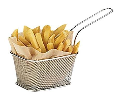 Juego de cestas individuales pequeñas para fritura (de acero inoxidable, 10 x 8 x
