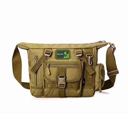 Huntvp Tactical Messenger Bag Shoulder Bag Cross Body Bag Belt Sling Bags Laptop for Working Cycling Hunting Camping Trekking