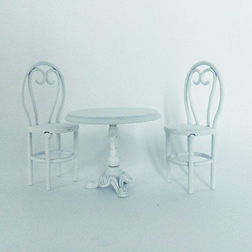 FUNSHOWCASE ジオラマ キット おもちゃ ダイニングテーブル 椅子 白 手作り ミニチュア インテリア ドールハウスキット ハンドメイド フィギュア