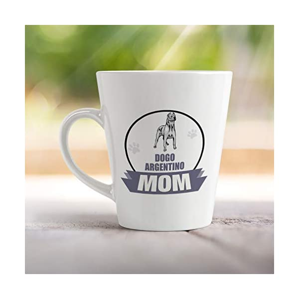 Ceramic Custom Latte Coffee Mug Cup Mom Dogo Argentino Dog Tea Cup 17 Oz Design Only 4