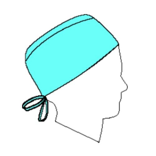Halyard Health 69240 Surgical Cap, Blue, Kaycel, Fabric, Universal (Pack of 3)