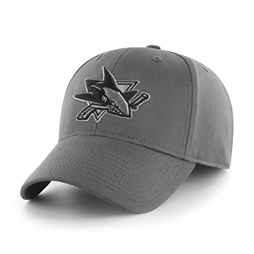 NHL San Jose Sharks Comer OTS Center Stretch Fit Hat, Charcoal, (San Jose Hats)