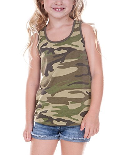 Army Tank Girl (Kavio! Little Girls 3-6X Camouflage Racer Back Tank Camo Army Green 6X)