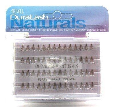 Ardell Duralash Naturals Flare Short Brown (56 Lashes) (3 Pack) (Ardell Duralash Flare Short)