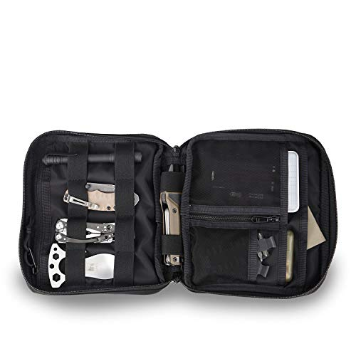 Price comparison product image CARGO WORKS ADM Pouch PRO , Electronic Accessories Organizer, Travel Gadget Pouch for Cables, USB Flash Drive, Plug and More, Black