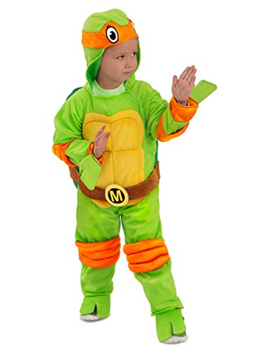 Toddler TMNT Michelangelo Jumpsuit Costume -