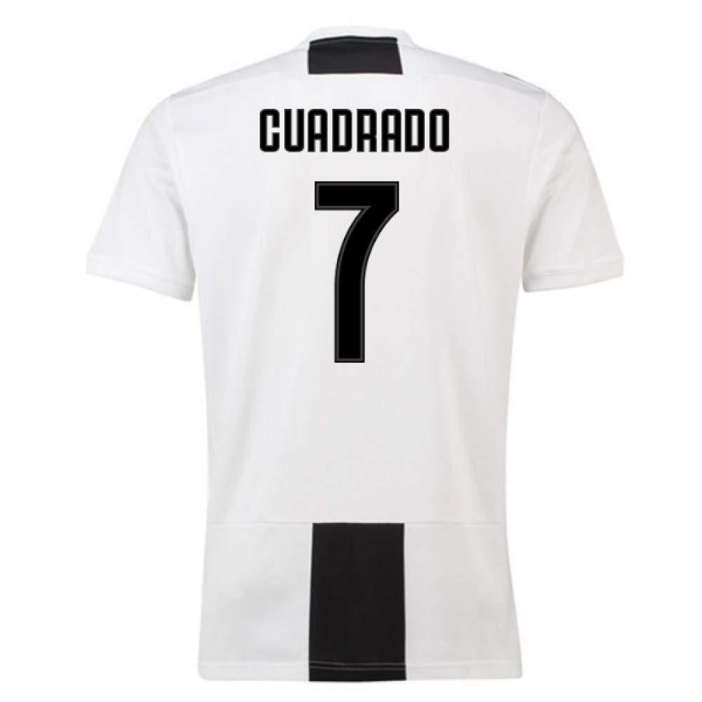 2018-19 Juventus Home Football Soccer T-Shirt Trikot (Juan Cuadrado 7)