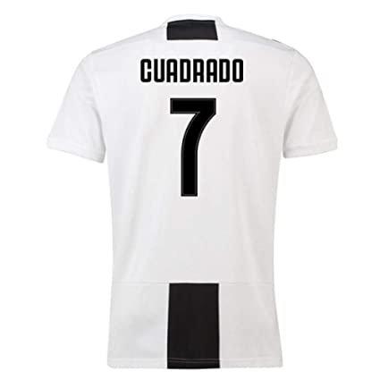 557544ac1 Image Unavailable. Image not available for. Color  2018-19 Juventus Home  Football Soccer T-Shirt Jersey (Juan Cuadrado 7)